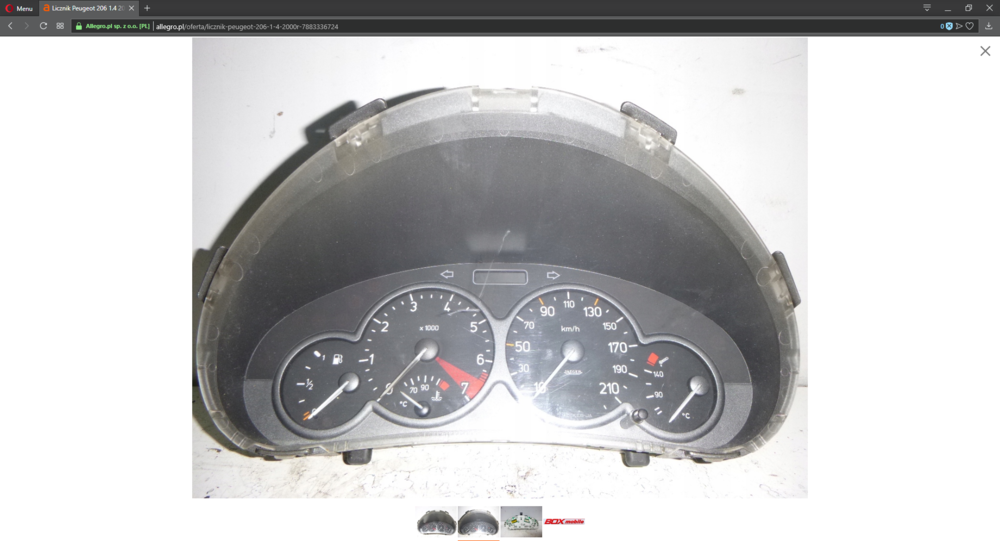 Licznik Peugeot 206 1.4 2000r. 7883336724 - Allegro.pl – Opera 06.03.2019 20_30_08.png